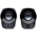 Logitech Stereo Speakers Z120 Zilver, zwart 2 Stuks
