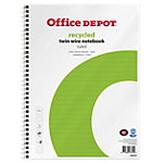 Office Depot Spriaalblok Wit, groen Gelinieerd A4+ 70 g