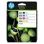 HP 364 Origineel Inktcartridge N9J73AE Zwart & 3 Kleuren 4 Stuks