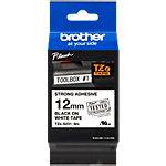Brother TZe Labeltape TZe  S231 Zwart op Wit 12 mm x 8 m