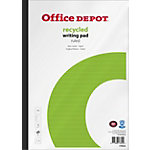 Office Depot Recycled Notitieblok Wit, groen Gelinieerd A4 21 x 31,5 cm 70 g