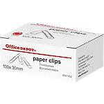 Office Depot Paperclips Rond Zilver 100 Stuks