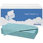 Niceday Papieren handdoeken 1 laags C vouw Blauw 20 Stuks à 182 Vellen