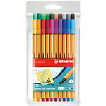 STABILO Point 88 Fineliner 0.4 mm Kleurenassortiment 20 Stuks