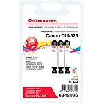 Office Depot Compatible Canon CLI 526 Inktcartridge 3 Kleuren 3 stuks
