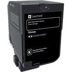 Lexmark 74C2HKE Origineel Tonercartridge Zwart Zwart