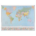 Legamaster Wereldkaart Staatkundig 1: 30 000 000 141,4 x 98 cm