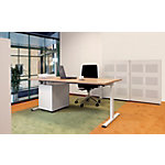 Nice Price Office Bureautafel Pro T Noten, wit 160 x 80 + 120 x 60 cm