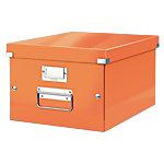Leitz Opbergdoos Click & Store A4 Oranje gelamineerd karton 28,1 x 37 x 20 cm