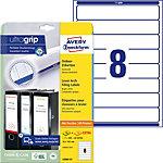 AVERY Zweckform Ordnerrugetiketten L6060 25 Ultragrip A4 Wit 30 Vellen à 8 Etiketten 3,4 x 19 cm