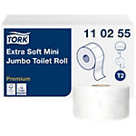 Tork Toiletpapier T2 Premium Mini Jumbo 3 laags 12 Rollen à 600 Vellen