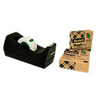 Scotch C38 Magic Plakbandhouder Zwart + 3 gratis rollen Scotch A greener choice tape 19 mm