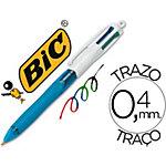 BIC 4 kleuren Balpennen Kleurenassortiment Gekleurde handgreep voor eenvoudig kleur selectie
