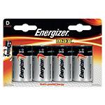 Energizer Max Batterijen Max D 4 Stuks