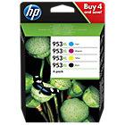HP 953XL Original Inktcartridge 3HZ52AE Zwart, Cyaan, Magenta, Geel 4 Stuks