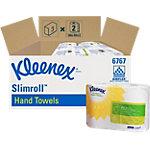 Kleenex Papieren handdoeken 7676 1 laags Rol Wit 2 Rollen à 400 Vellen