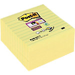 Post it Super sticky Zelfklevende notes Geel Gelinieerd 101 x 101 mm 70 g