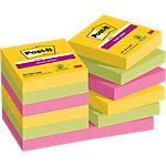 Post it Zelfklevende notes 48 x 48 mm Geel, groen, paars 12 Stuks à 90 Vellen