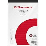 Office Depot Schrijfblok Wit, rood Gelinieerd A5+ 15 x 22,5 cm 70 g