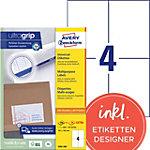 AVERY Zweckform Adresetiketten & Verzendetiketten 3483 200 Ultragrip A4 105 x 148 mm 220 Vellen à 4 Etiketten