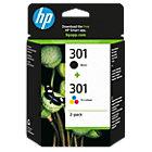 HP 301 Original Inktcartridge N9J72AE Zwart, Cyaan, Magenta, Geel 2 Stuks
