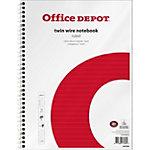 Office Depot Spiraalblok A4+ Gelinieerd Wit, rood 5 stuks à 80 vellen