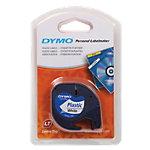 DYMO Labeltape Plastic 91201 Zwart op Wit 12 mm x 4 m