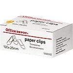 Office Depot Dakmodel. Paperclips Zilver 25 mm 100 stuks