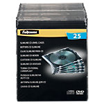 Fellowes CD boxen plastic Zwart, transparant voor