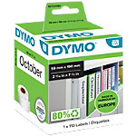 DYMO LW Etiketten 99019 Zwart op Wit 59 mm x 0,19 m
