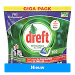 Dreft Vaatwastabletten Dreft All in One Original Vaatwastabletten 100 Stuks