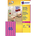 Avery Mini etiketten Fluo rose 6500 stuks