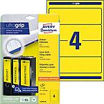 AVERY Zweckform Ordnerrugetiketten Ultragrip L4769 20 Geel A4 61 mm 20 Vellen à 4 Etiketten
