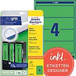 AVERY Zweckform Ordnerrugetiketten Ultragrip L4768 20 Groen A4 192 x 61 mm 20 Vellen à 4 Etiketten