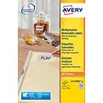Avery Stick & Lift Herkleefbare etiketten Wit 4725 stuks