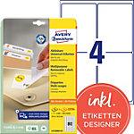 AVERY Zweckform Stick & Lift Herkleefbare etiketten Wit 2000 stuks