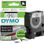 DYMO D1 Labeltape 45803 Zwart op Wit 19 mm x 7 m