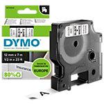 DYMO Labeltape D1 45013 Zwart op Wit 12 mm x 7 m