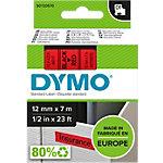 DYMO D1 Labeltape 45017 Zwart op Rood 12 mm x 7 m