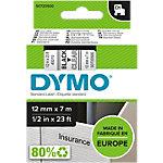 DYMO Labeltape D1 45010 Zwart op Transparant 12 mm x 7 m