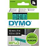 DYMO D1 Labeltape 45019 Zwart op Groen 12 mm x 7 m