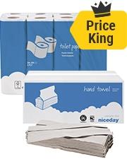 Vanaf € 5,99 Toiletpapier en papieren handdoeken