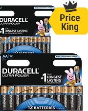 Slechts €6,29 Duracell Batterijen Ultra Power