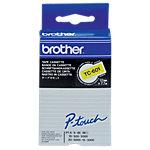 Brother Etiketten TZE Zwart op Geel 12 mm x 7,7 m