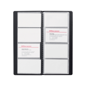 Album Pour Cartes De Visite Office Depot Noir 96 115 X 255 Cm Par Viking