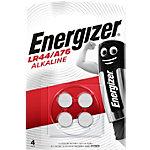 Piles bouton Energizer LR44 1,5V Alcaline 4 Unités