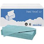 Essuie mains Niceday Standard 1 épaisseur Pliage en V Bleu 20 Unités de 250 Feuilles