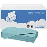 Essuie mains Niceday Standard 1 épaisseur Pliage en C Bleu 20 Unités de 200 Feuilles