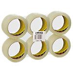 Ruban adhésif d'emballage Scotch Low Noise 48 mm x 66 m Transparent 6 Rouleaux
