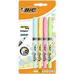 Surligneurs BIC 1.6 mm Assortiment pastel 4 Unités